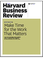 HBR article: Make time for the work that matters