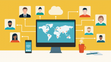 digital transformation - remote employees connecting from around the world