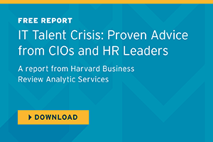 Harvard Business Review: IT Talent Crisis: Proven Advice from CIOs and HR Leaders